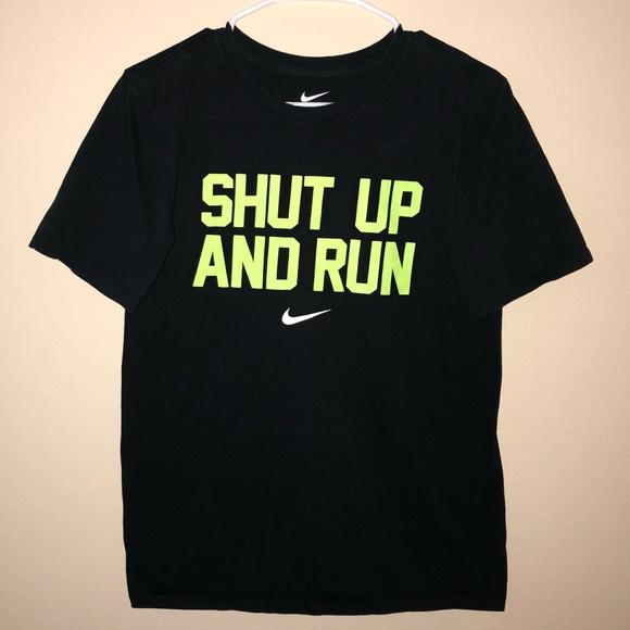 d78a65c4d Nike T-Shirt Shut Up and Run. M_5a81c52684b5ce76639f868d